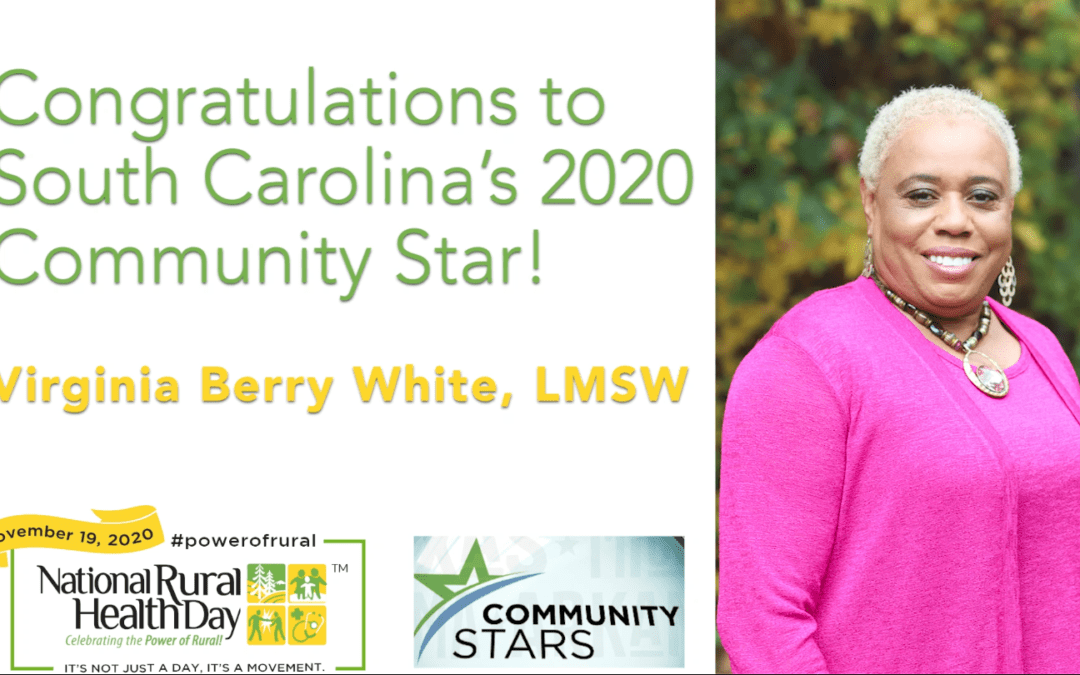 Virginia Berry White named South Carolina's Community Star as part of 10th annual National Rural Health Day celebration